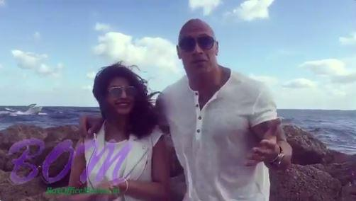 Priyanka Chopra with the Rock just before shooting for Baywatch