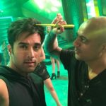 Pulkit Samrat selfie with hair stylist Aalim Hakim