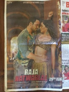 Raja Natwarlal movie poster on the Front page of Bombay Times