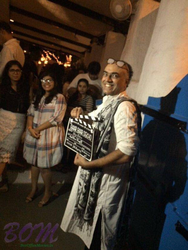 Rajit Kapur with the clipper of Baar Baar Dekho