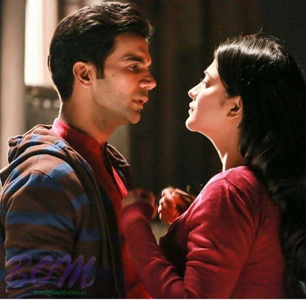 Rajkumar Rao and Shruti Haasan during a scene of Behen Hogi Teri