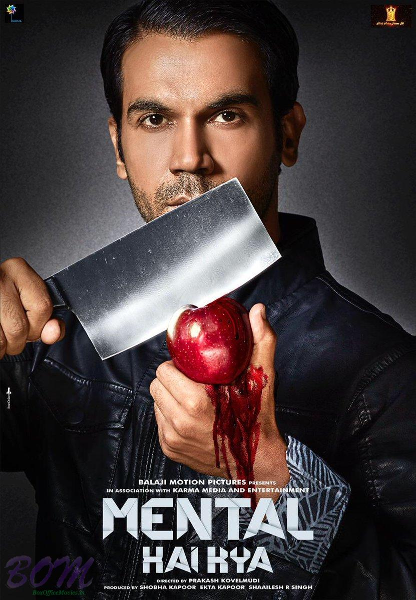 Rajkumar Rao bloody apple poster of Mental Hai Kya movie