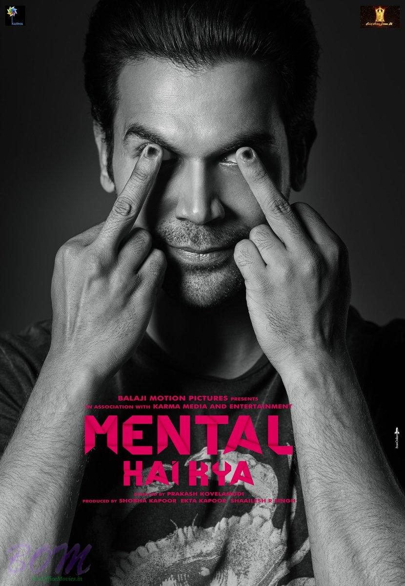 Rajkummar Rao starrer most creative poster of Mental Hai Kya movie