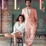 Rajkummar Rao with Aditi Rao Hydari on the cover page of ELLE India July 2018 issue
