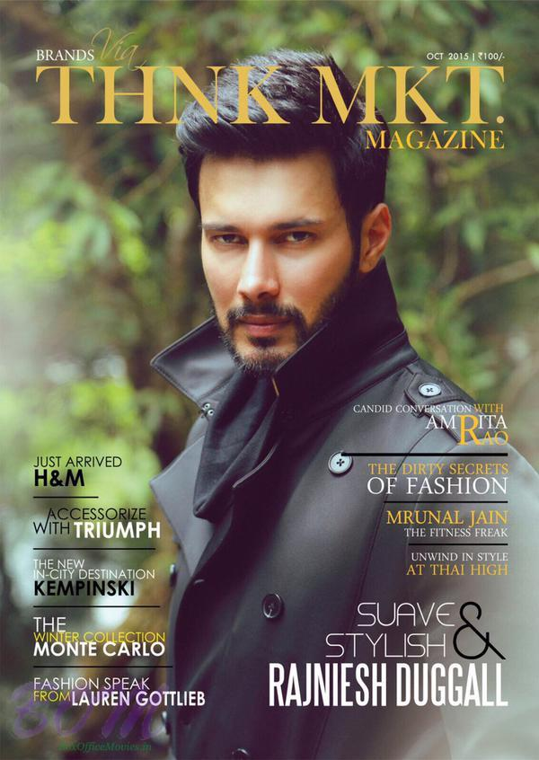 Rajniesh Duggall on the cover page of THNK MKT Magazine oct 2015 issue