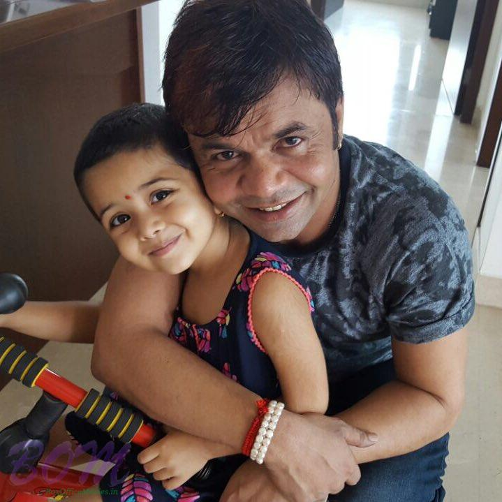 Rajpal Yadav with her beautiful 3 years old daughter