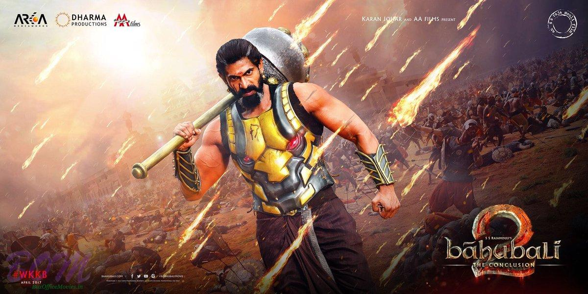 Rana Daggubati first look picture in upcoming movie Bahubali 2