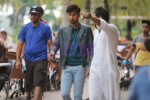 Ranbir Kapoor while shooting for Roy