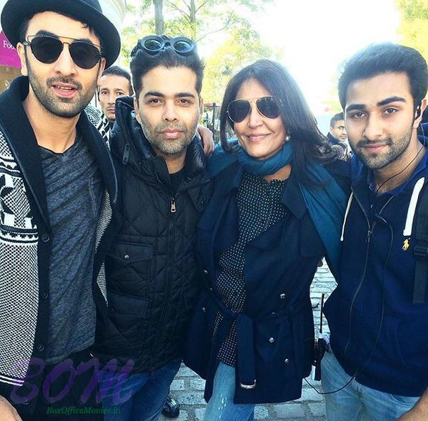 Ranbir Kapoor with Karan Johar and others on the sets of Ae Dil Hai Mushkil in Paris