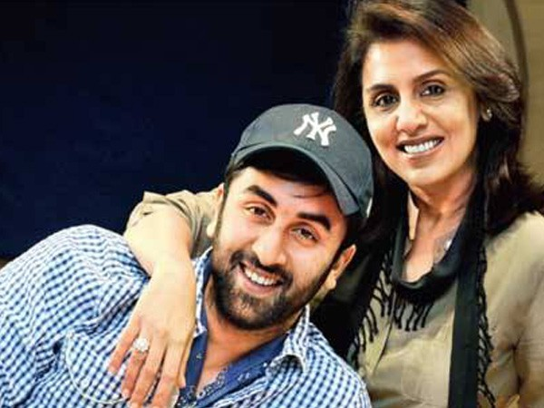 Ranbir Kapoor with Mother Neetu Singh - Family Pic