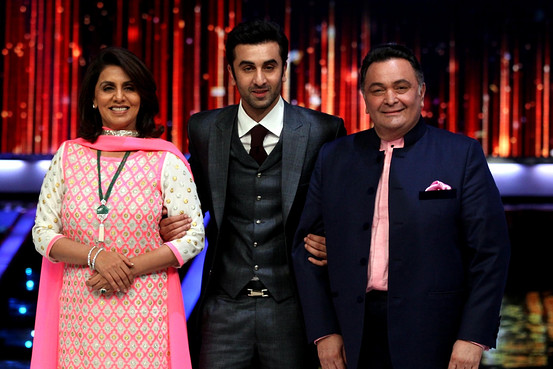 Ranbir Kapoor with Mother Neetu Singh and Dad Rishi Kapoor