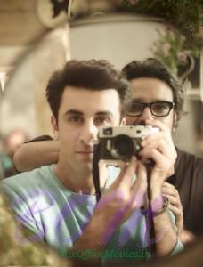 Ranbir kapoor while trying a selfie