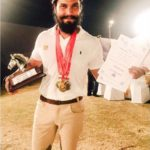 Randeep Hooda with his medals from Hoarse Riding competitions