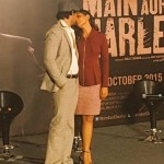Randeep Hooda with Richa Chadda during Main Aur Charles trailer launch