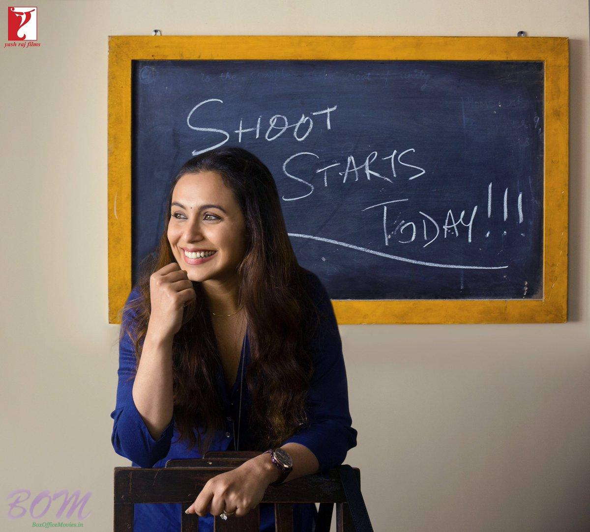 Rani Mukerji starts shooting for Yash Raj's next Hichki