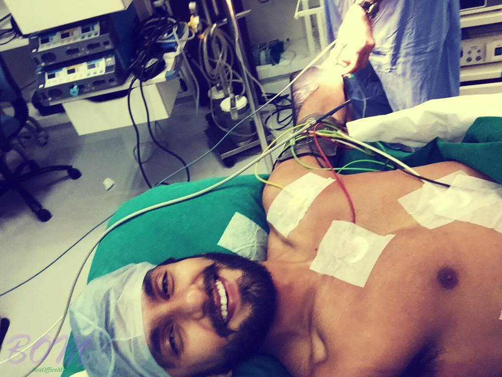 Ranveer Singh shared this selfie from the operation theatre