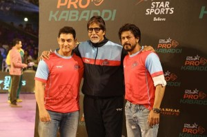 Rate picture of Bollywood Amitabh Bachchan, Shahrukh Khan and Aamit Khan together
