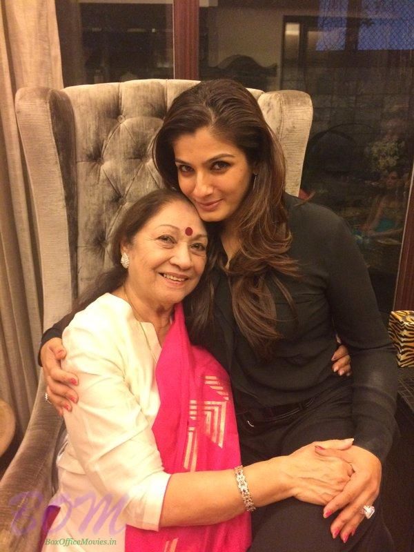 Raveena Tandon with her Mother