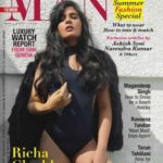 Richa Chadha hot look on the cover page of MAN magazine