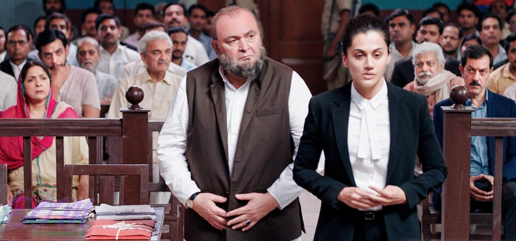 Rishi Kapoor and Taapsee Pannu in a still of MULK movie