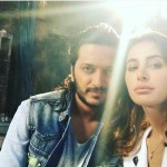 Riteish Desmukh and Nargis Fakhri on the sets of Banjo