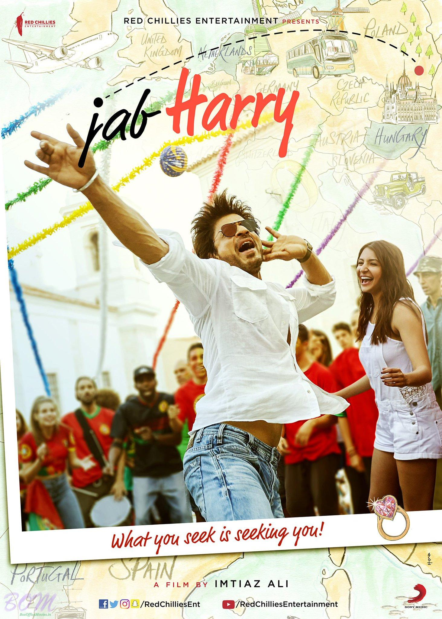 SRK Starrer Poster OF JAB HARRY MET SEJAL