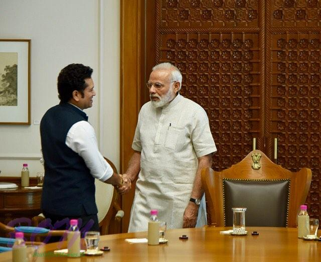 Sachin Tendulkar met Hon'ble PM Narendra Modi on 19 May 2017