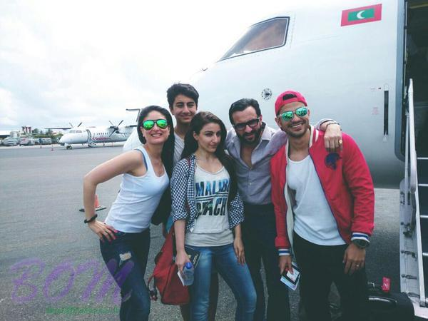 Saif Ali khan and the family in the Maldives