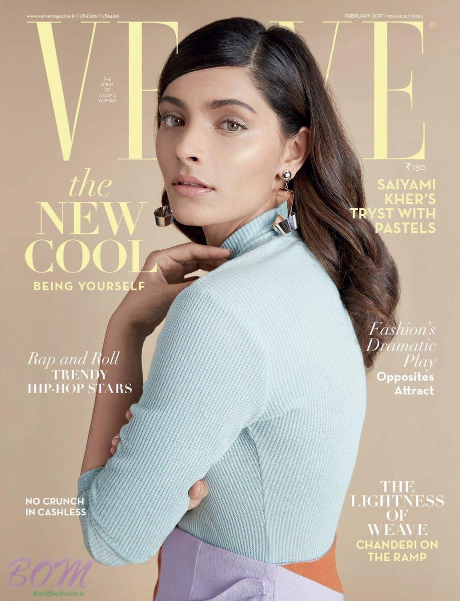 Saiyami Kher Cover Girl for VERVE Magazine Feb 2017 Issue