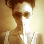 Saiyami Kher just after voting