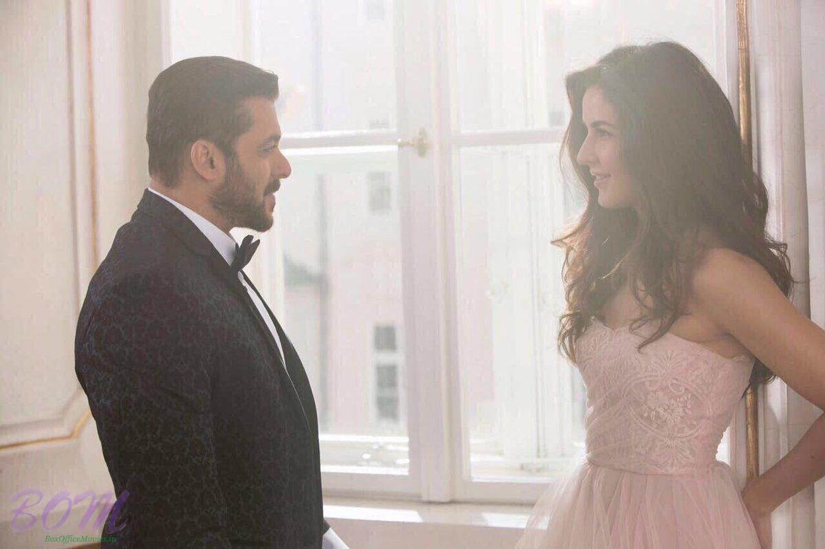 Salman Khan and Katrina Kaif on the sets of Tiger Zinda Hai movie