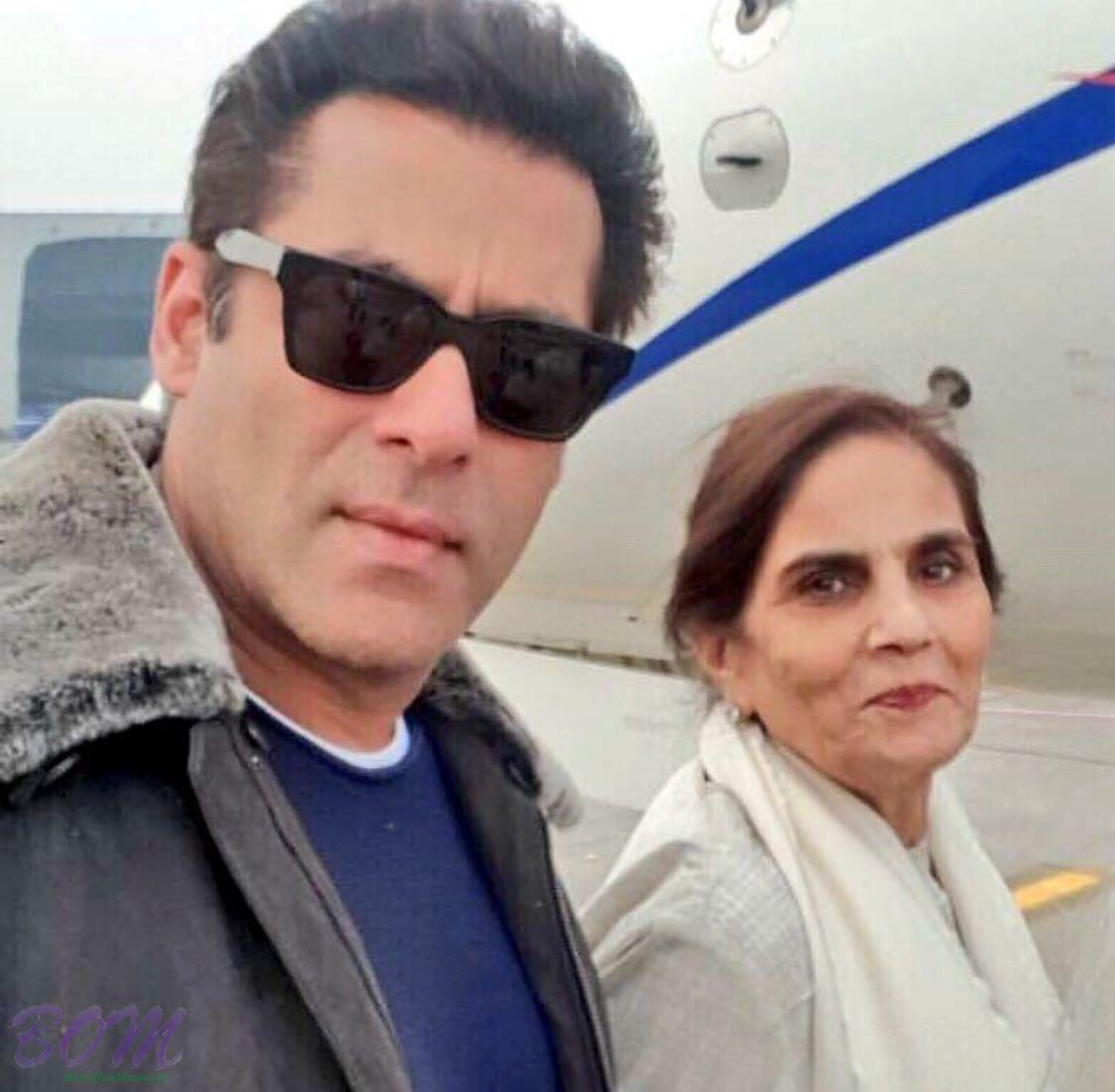 Salman Khan latet pic with month Salma Khan
