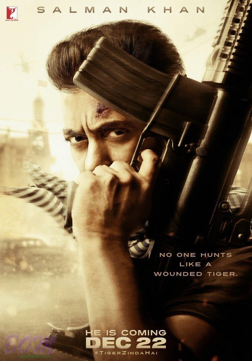 Salman Khan starrer First look poster of Tiger Zinda Hai, movie release date 22 Dec 2017.