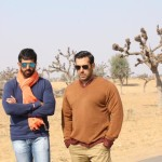 Salman Khan with Kabir Khan while shooting for Bajrangi Bhaijaan