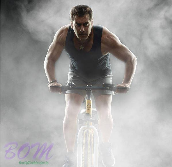 Salman Khan with his eCycle promotional picture before launch