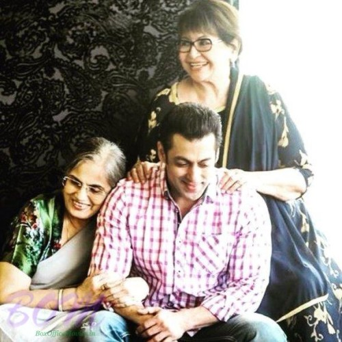Salman Khan with his moms