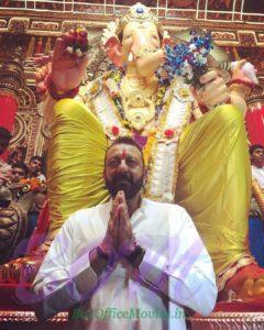 Sanjay Dutt at Lalbaugcha Raja on Ganesh Chaturthi 2017