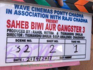 Saheb Biwi Aur Gangster 3 movie shooting begins from 21 Sep 2017.