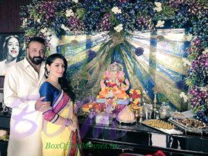 Sanjay Dutt with wife on Ganesh Chaturthi 2017