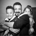 Sanjay dutt with his kids Shahraan and Iqra