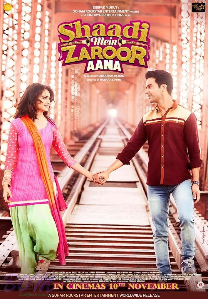 Shaadi Mein Zaroor Aana release date is 10th Nov 2017.
