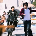 Shah Rukh Khan running after a FAN
