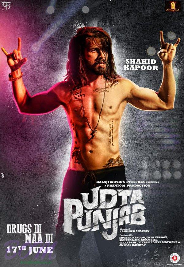 Shahid Kapoor as Tommy Singh in Udta Punjab