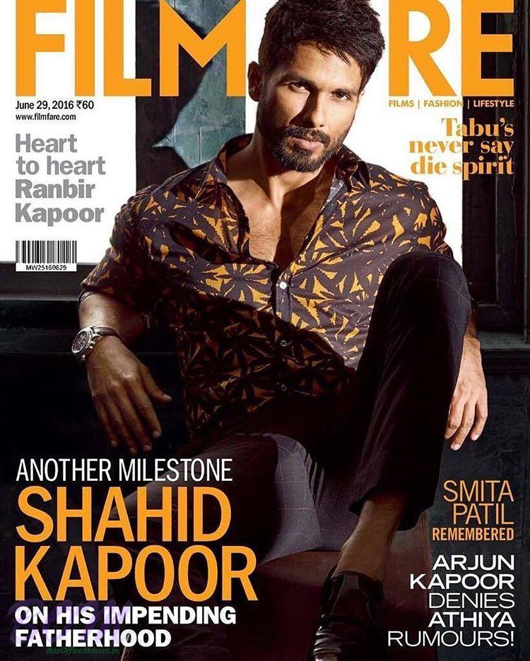 Shahid Kapoor cover boy for Filmfare June 2016 issue