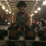 Shahid Kapoor during a fitness training session