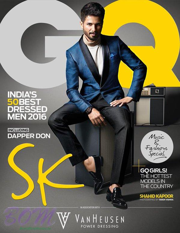 Shahid Kapoor on GQ India Magazine cover page on June 2016