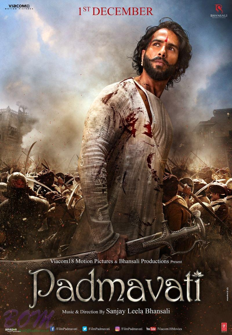 Shahid Kapoor warrior look as Maharawal Partap Singh in this Padmavati movie poster.