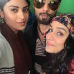 Shahid Kapoor with Shraddha Kapoor and Anushka Ranjan for Batti Gul Meter Chalu