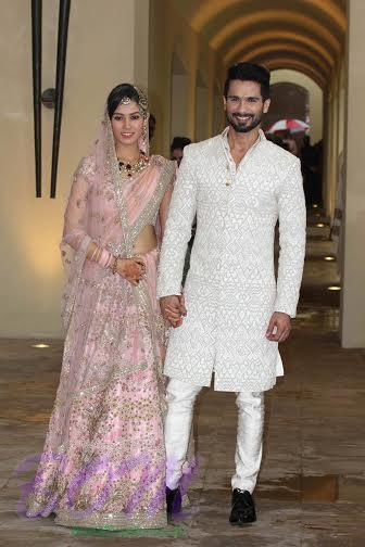 Shahid kapoor smiling with Mira Rajpoot