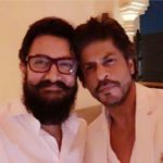 Shahrukh Khan Aamir Khan first friendly selfie picture after 25 years in Feb 2017